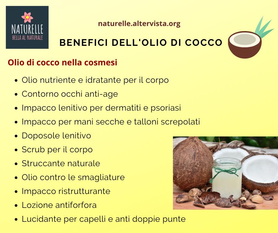 I benefici dell'olio di cocco per la cura di corpo e capelli