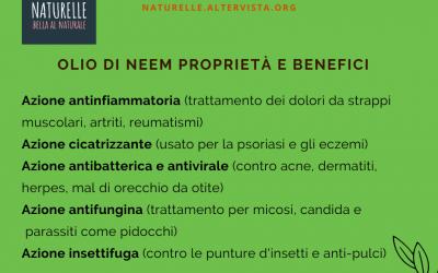 olio di neem proprietà e benefici