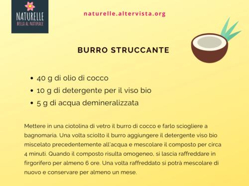 Ricetta homemade burro struccante al cocco