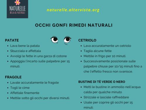 Occhi gonfi rimedi naturali ed efficaci