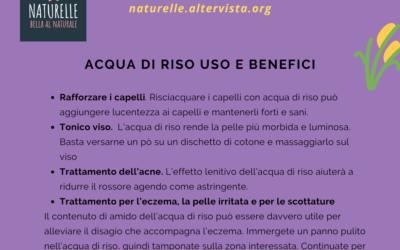 Acqua di riso uso e benefici su pelle e capelli